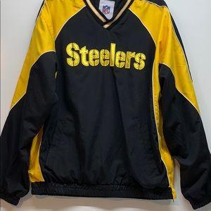 NFL Steeler Windbreaker Pullover Size Men's Large